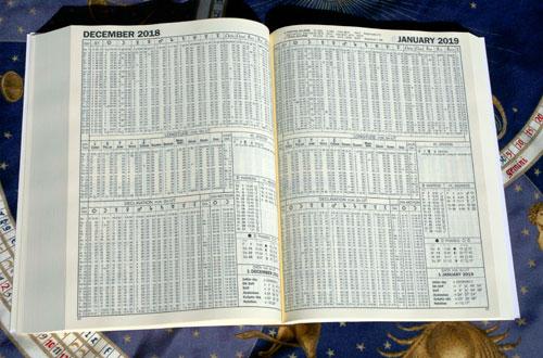 livre broché éphémérides astrologiques 1950-2050 edition 2019